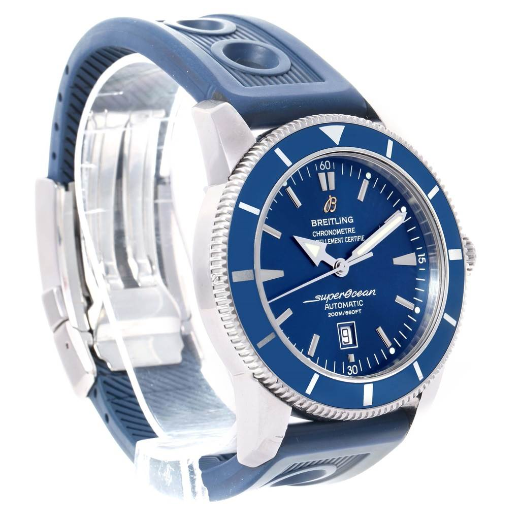 14590 Breitling Superocean Heritage 46 Blue Dial Mens Watch A17320 SwissWatchExpo