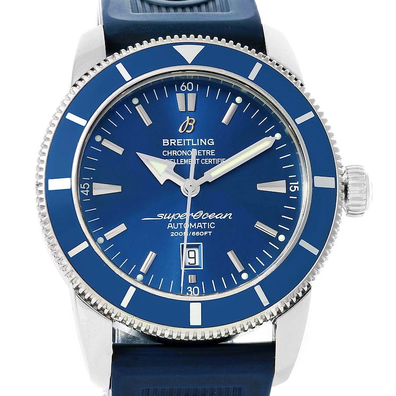 Breitling Superocean Heritage 46 Blue Dial Automatic Mens Watch A17320 SwissWatchExpo