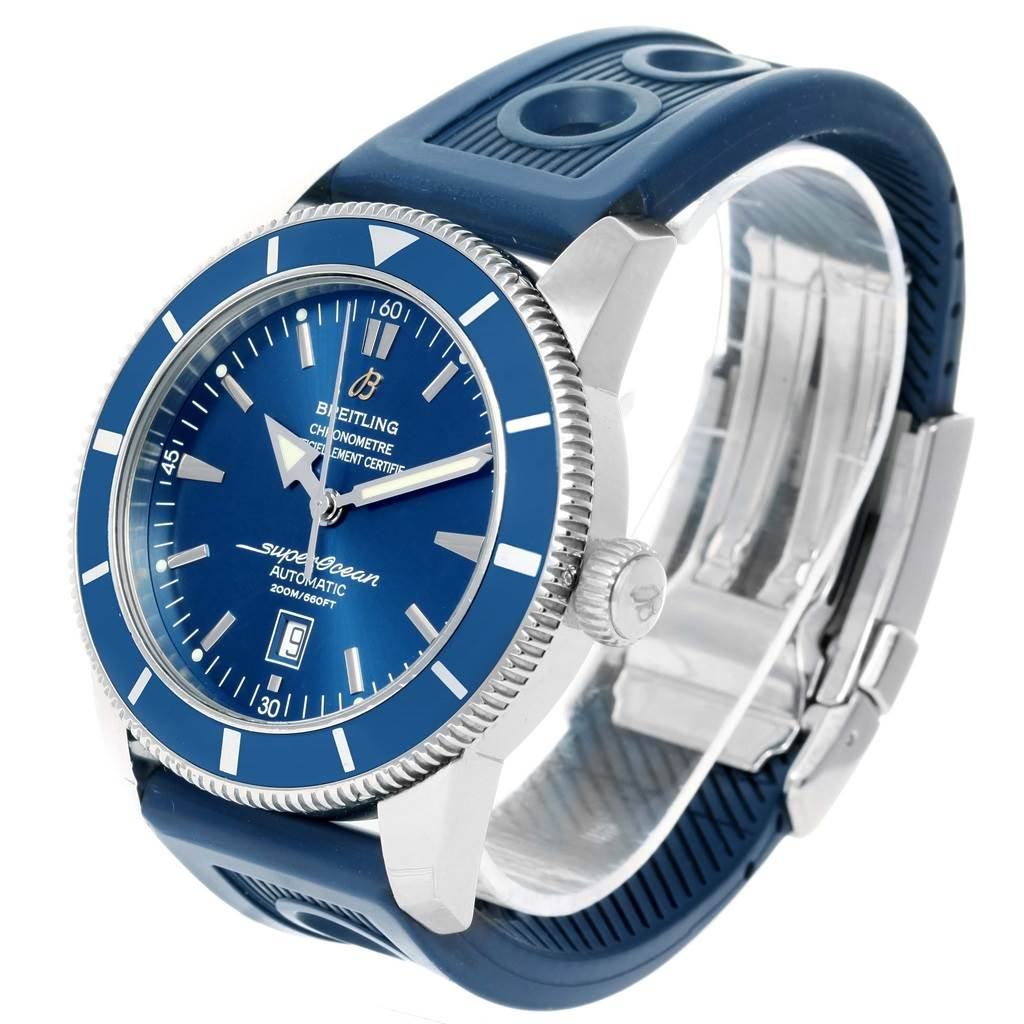 14675 Breitling Superocean Heritage 46 Blue Dial Automatic Mens Watch A17320 SwissWatchExpo