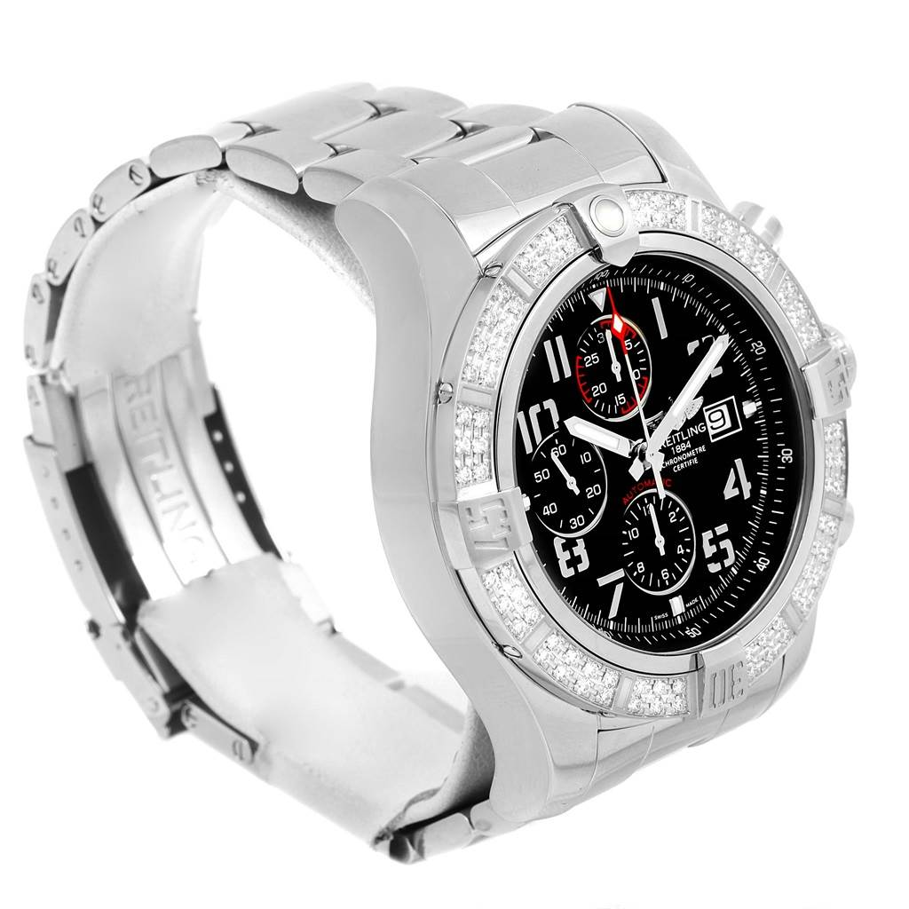 14788 Breitling Aeromarine Super Avenger Diamond Mens Watch A13370 SwissWatchExpo