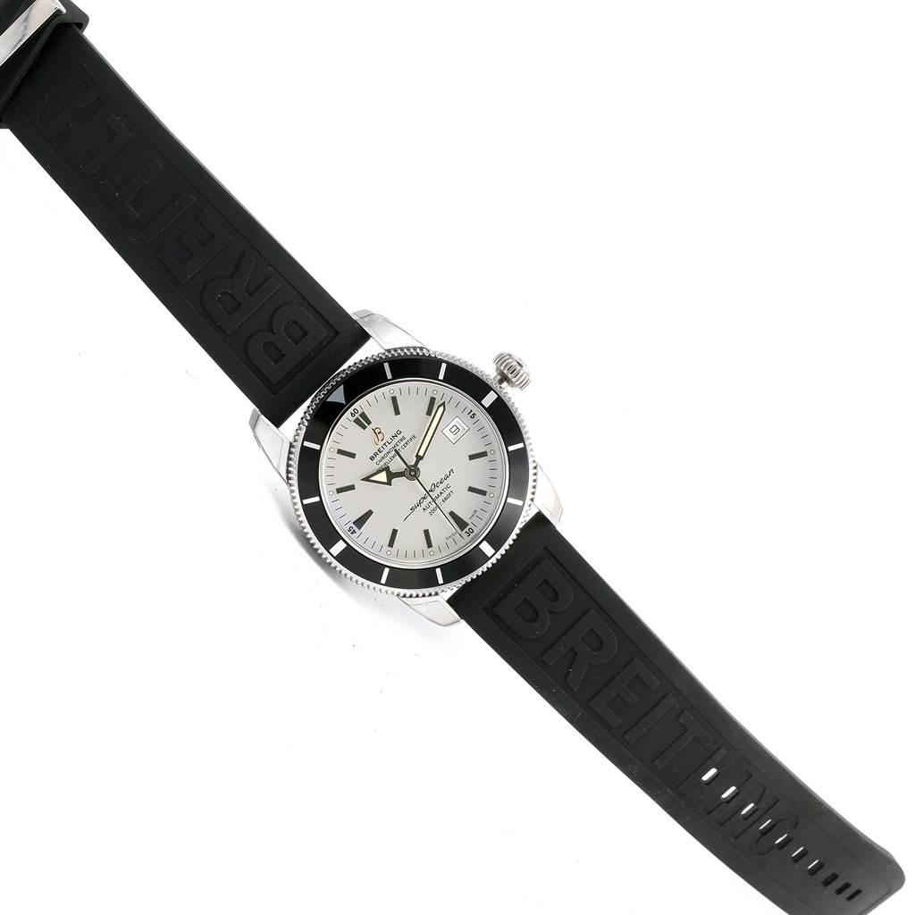 14886 Breitling Superocean Heritage 42 Silver Dial Mens Watch A17321 Unworn SwissWatchExpo
