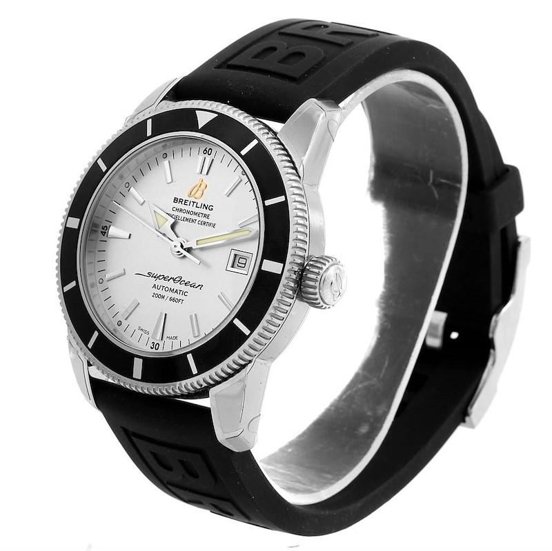 Breitling Superocean Heritage 42 Silver Dial Mens Watch A17321 Unworn SwissWatchExpo