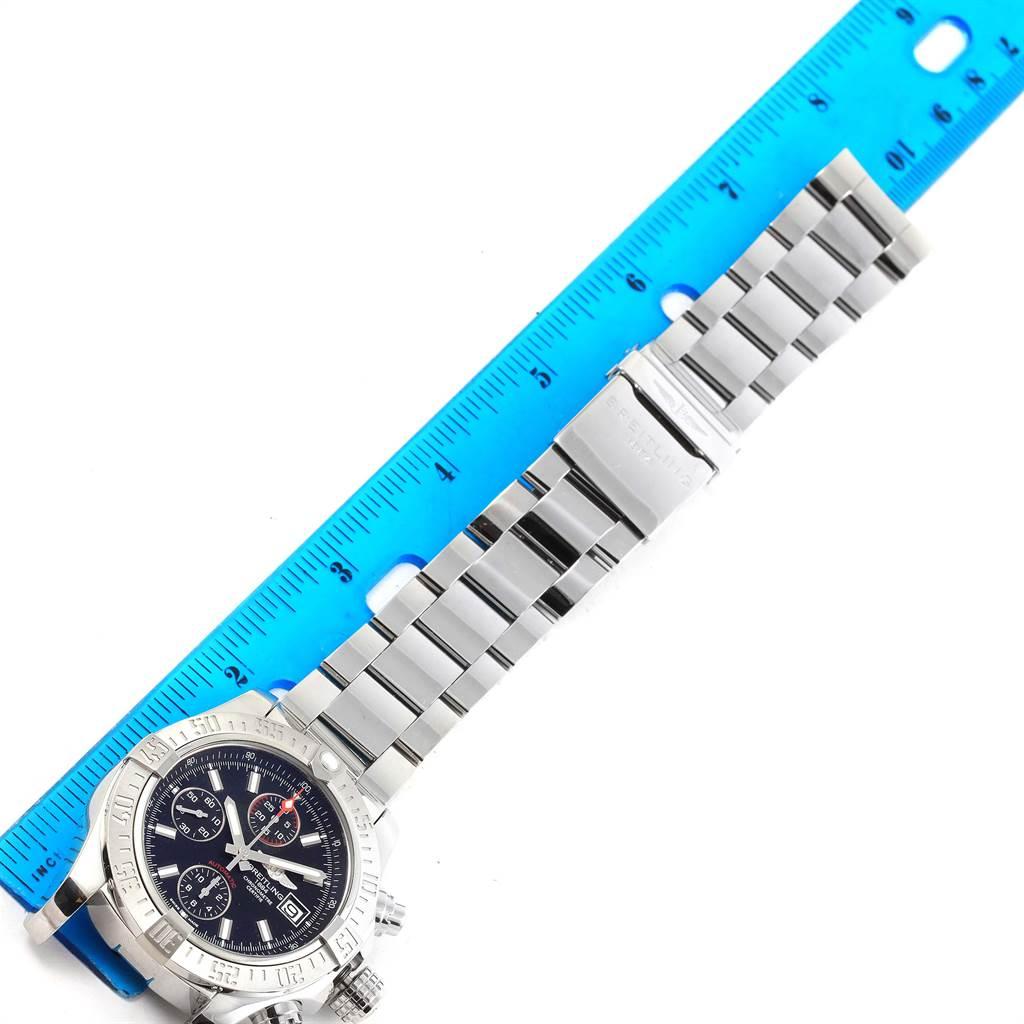 14901 Breitling Avenger II Chronograph Black Baton Dial Mens Watch A13381 SwissWatchExpo