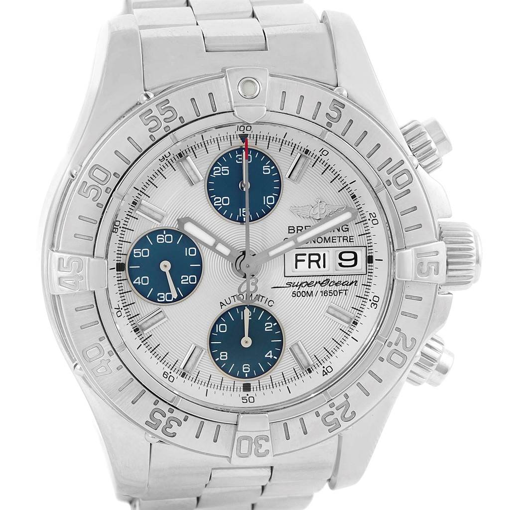 14863 Breitling Aeromarine Superocean Automatic Steel Watch A13340 SwissWatchExpo