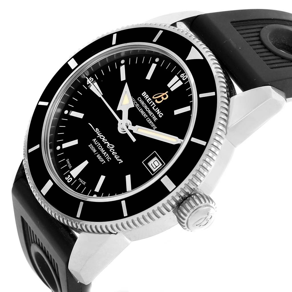 Breitling Superocean Heritage 42 Black Dial Mens Watch A17321 SwissWatchExpo