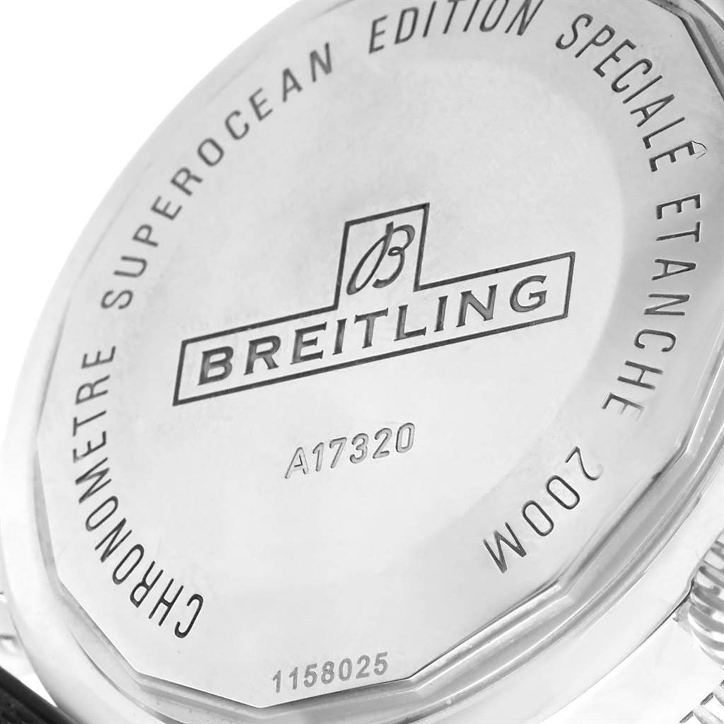 15328 Breitling Superocean Heritage 46 Blue Dial Mens Watch A17320 Box Papers SwissWatchExpo