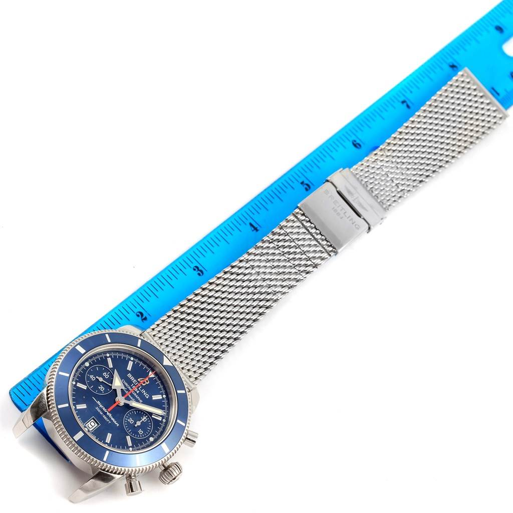 15401 Breitling SuperOcean Heritage 44 Chrono Blue Dial Watch A23370 SwissWatchExpo