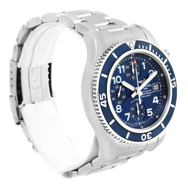 Breitling Superocean Chronograph 42 Steel Mens Watch A13311 Box Card SwissWatchExpo