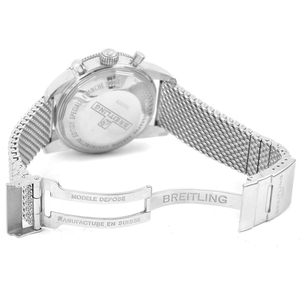 Breitling SuperOcean Heritage 44 Blue Dial Mesh Bracelet Watch A23370 SwissWatchExpo