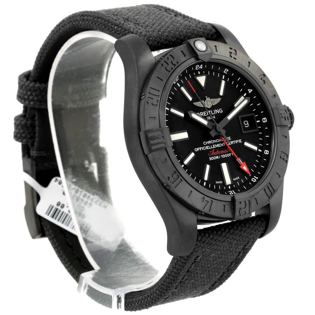 15677 Breitling Aeromarine Avenger II GMT Canvas Strap Watch M32390 Unworn SwissWatchExpo