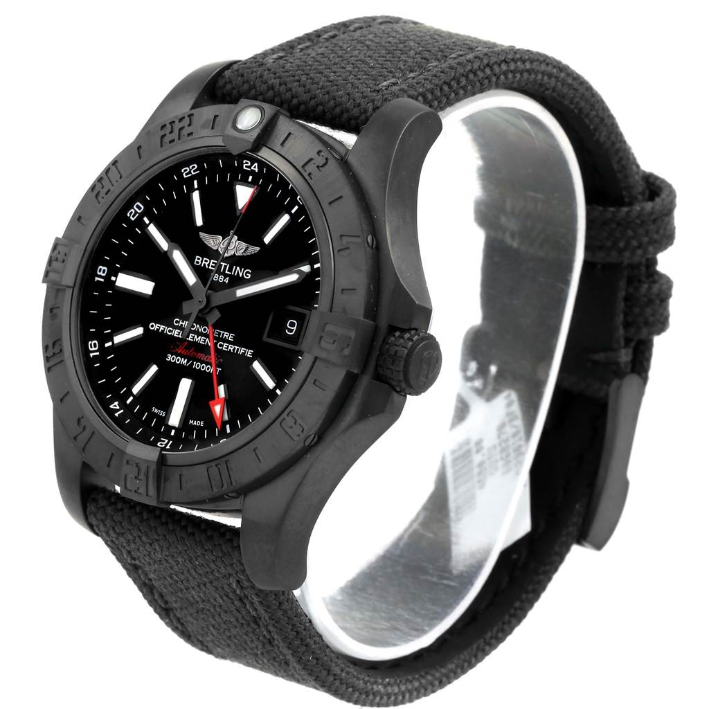 Breitling Aeromarine Avenger II GMT Canvas Strap Watch M32390 Unworn SwissWatchExpo