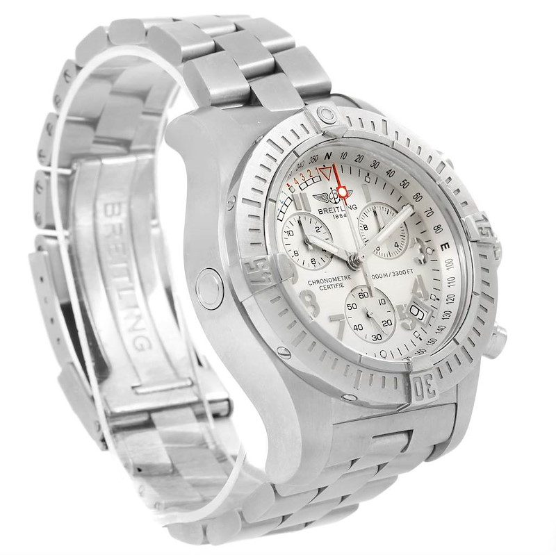 Breitling Avenger Seawolf Silver Dial Mens Watch A73390 Box Papers SwissWatchExpo