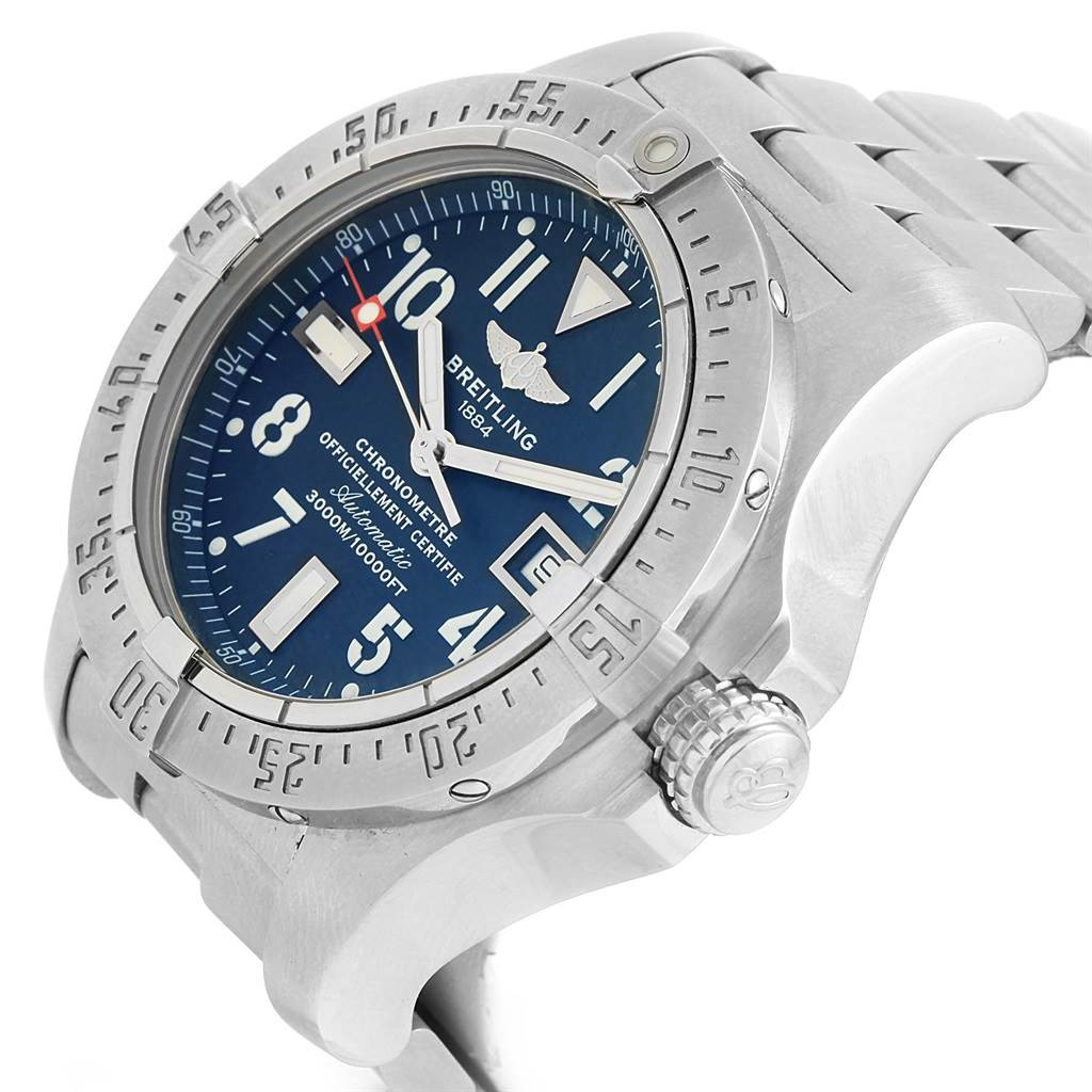 15841 Breitling Aeromarine Avenger Seawolf Mens Watch A17330 Box Papers SwissWatchExpo