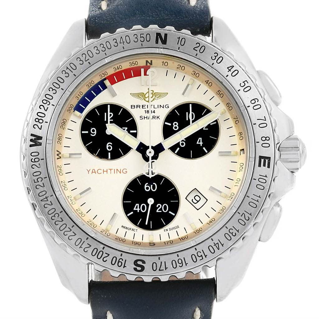 15791 Breitling Aeromarine Chrono Shark Yachting Mens Watch A53605 SwissWatchExpo