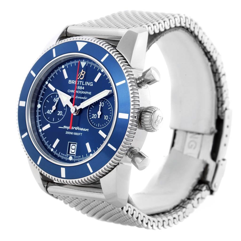 15956 Breitling SuperOcean Heritage 44 Blue Dial Mens Watch A23370 Unworn SwissWatchExpo