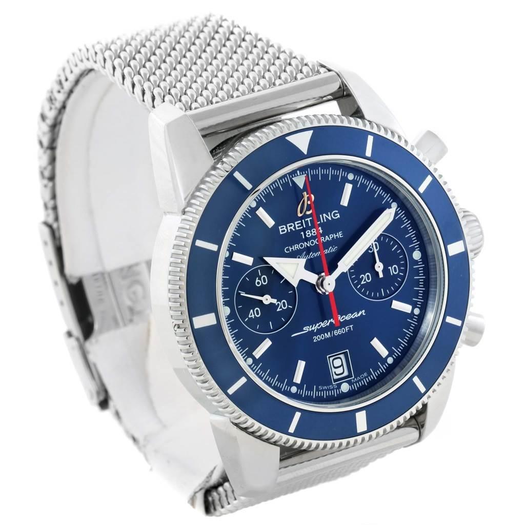 15956 Breitling SuperOcean Heritage 44 Blue Dial Mens Watch A23370 Unworn SwissWatchExpo