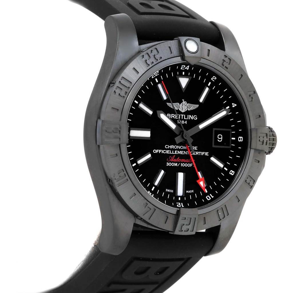 15633 Breitling Aeromarine Avenger II GMT Rubber Strap Watch M32390 Unworn SwissWatchExpo