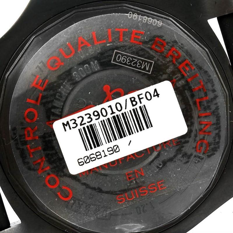 Breitling Aeromarine Avenger II GMT Rubber Strap Watch M32390 Unworn SwissWatchExpo