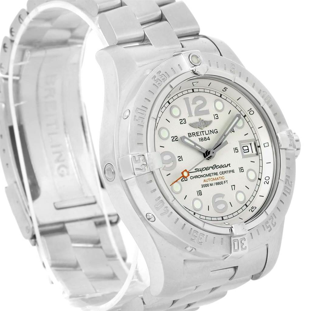Breitling Aeromarine Superocean Steelfish Silver Dial Watch A17390 SwissWatchExpo