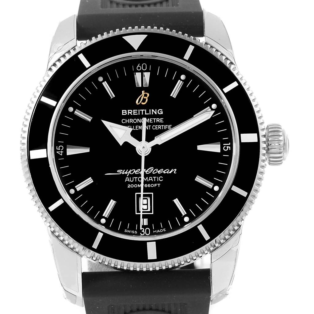 16232 Breitling Superocean Heritage 46 Rubber Strap Watch A17320 Box Papers SwissWatchExpo