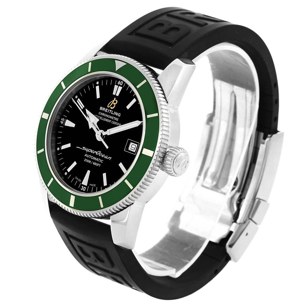 16165 Breitling Superocean Heritage 42 Green Bezel Mens Watch A17321 SwissWatchExpo