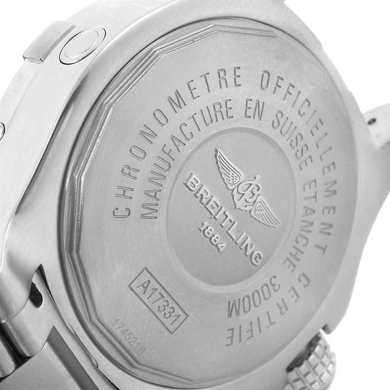 Breitling Aeromarine Avenger II Seawolf Black Dial Mens Watch A17331 SwissWatchExpo