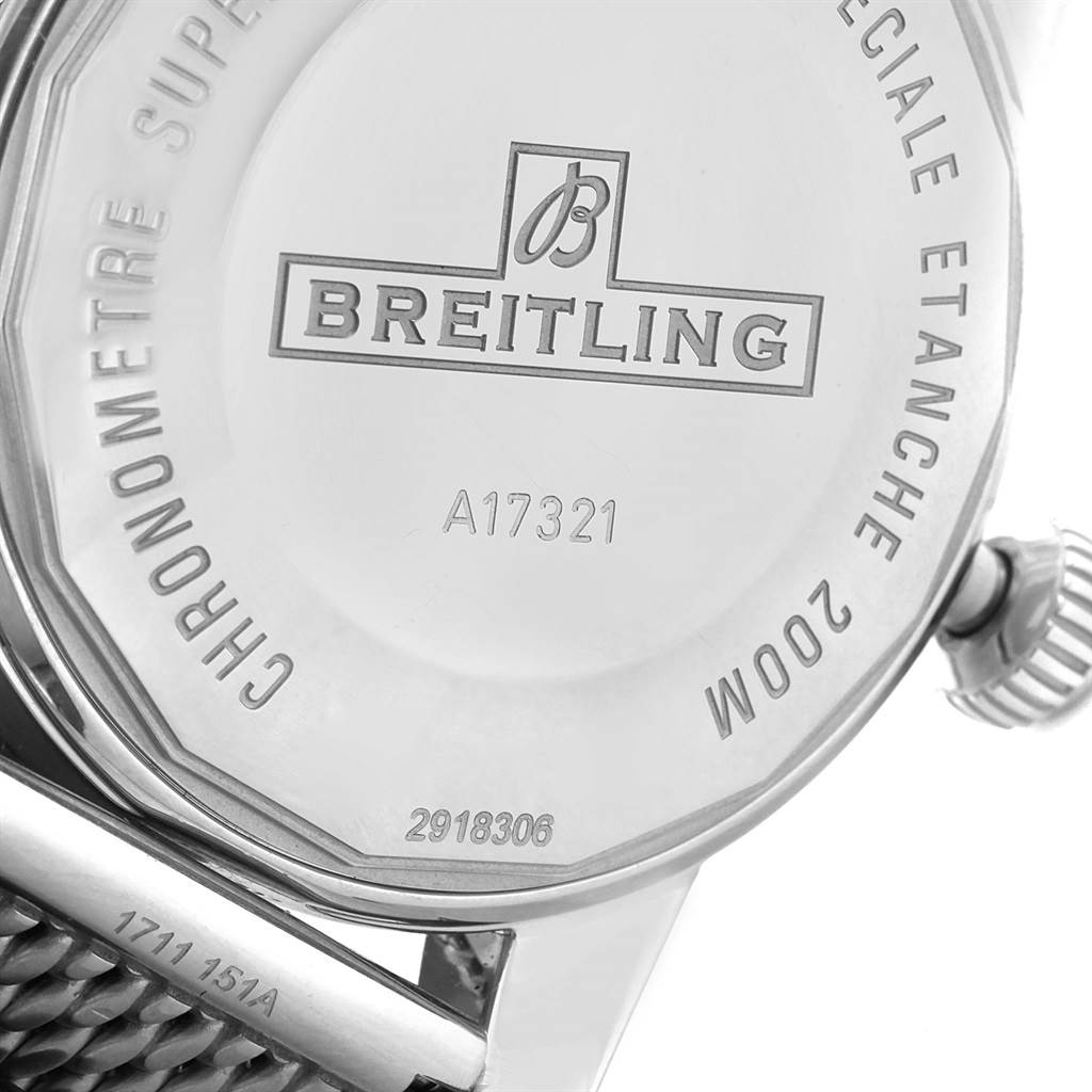 16369 Breitling Superocean Heritage 42 Mesh Bracelet Watch A17321 Box Papers SwissWatchExpo