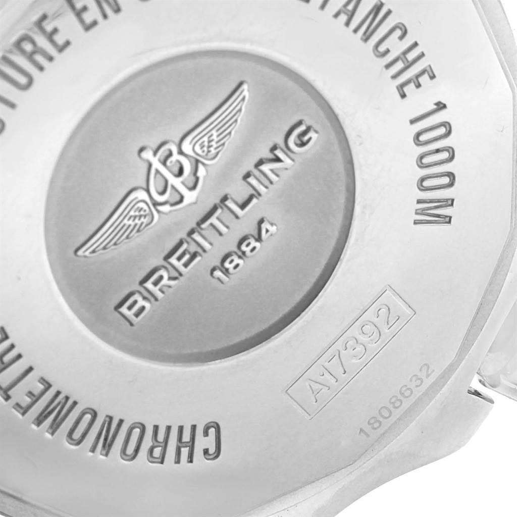 16365 Breitling Superocean II 44 Gun Blue Dial Steel Watch A17392 Box Papers SwissWatchExpo