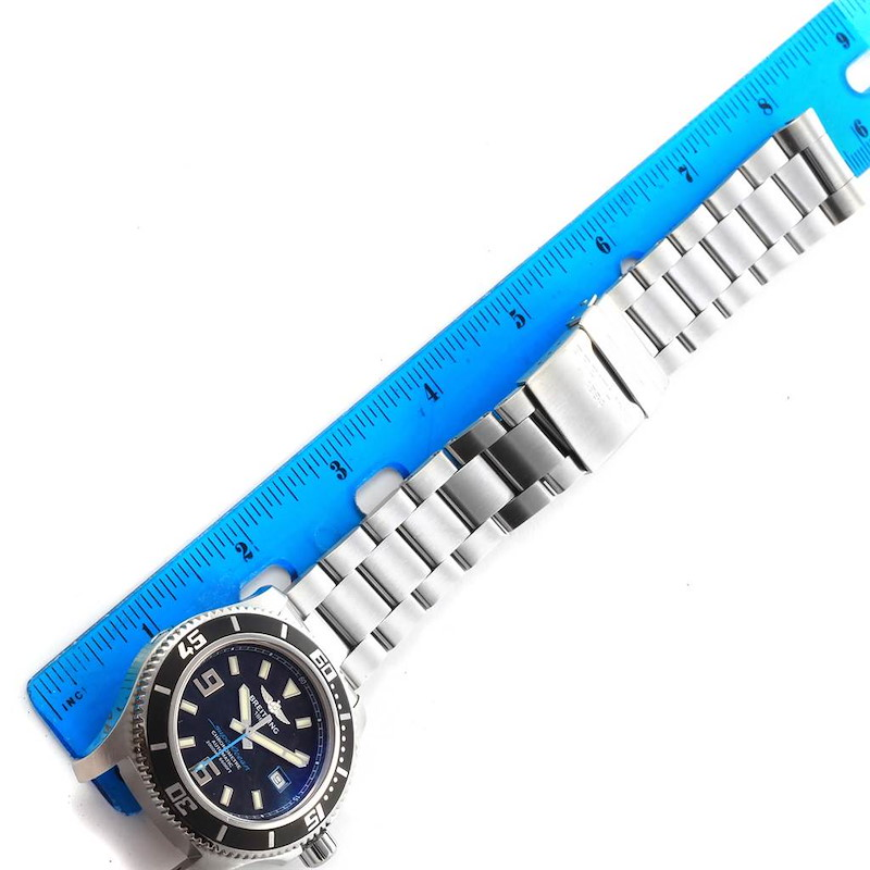 Breitling Aeromarine Superocean 44 Blue Hand Watch A17391 Box Papers SwissWatchExpo