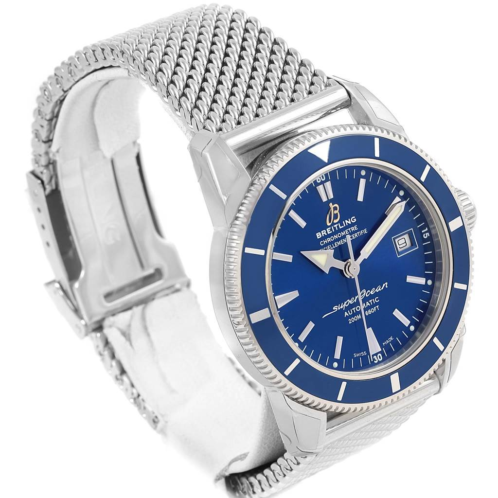 16849 Breitling Superocean Heritage 42 Mesh Bracelet Watch A17321 Unworn SwissWatchExpo