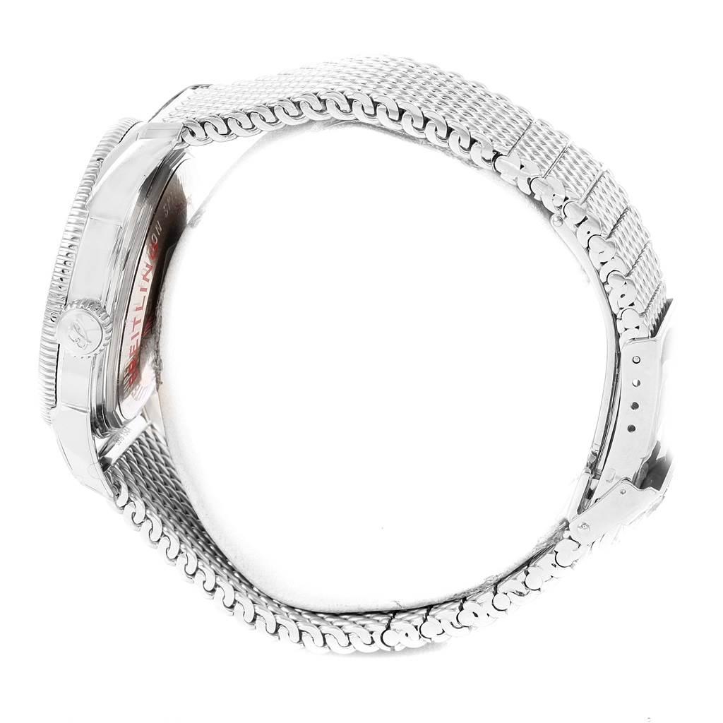 Breitling Superocean Heritage 42 Mesh Bracelet Watch A17321 Unworn SwissWatchExpo
