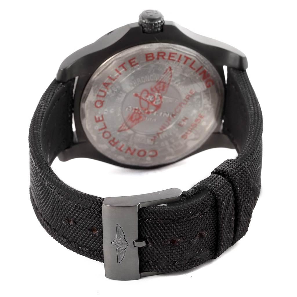 16823 Breitling Avenger Blackbird Titanium Canvas Strap Mens Watch V17311 SwissWatchExpo