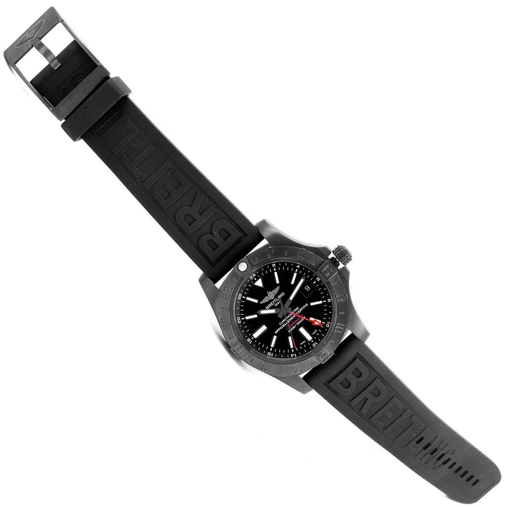 Breitling Aeromarine Avenger II GMT Rubber Strap Watch M32390 SwissWatchExpo