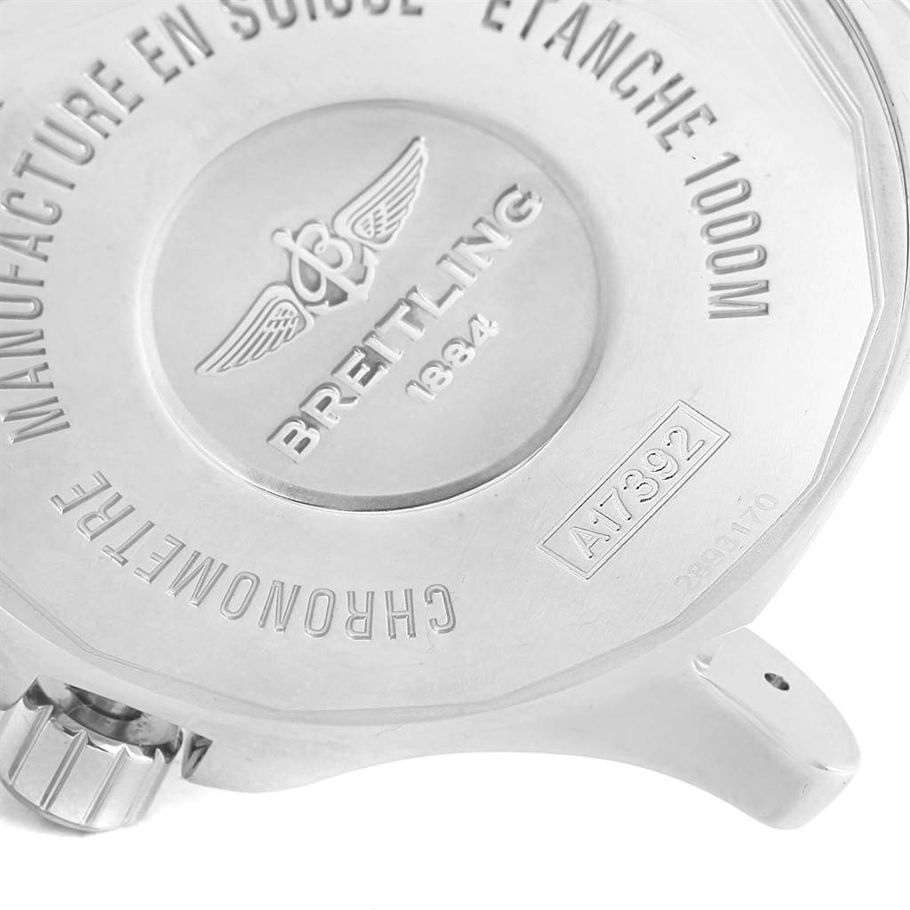 16827 Breitling Superocean II 44 Gun Blue Dial Steel Mens Watch A17392 SwissWatchExpo