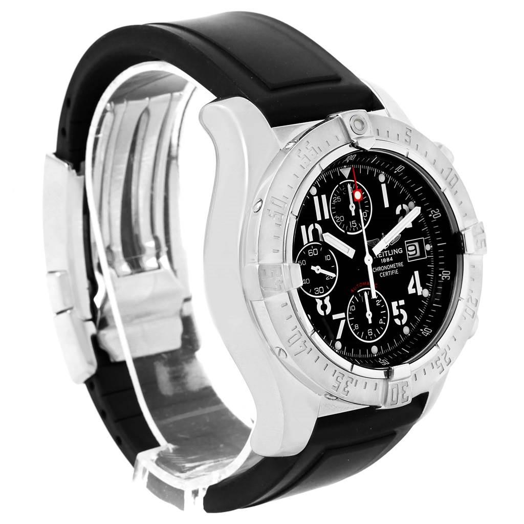 16520 Breitling Aeromarine Avenger Skyland Black Dial Mens Watch A13380 SwissWatchExpo