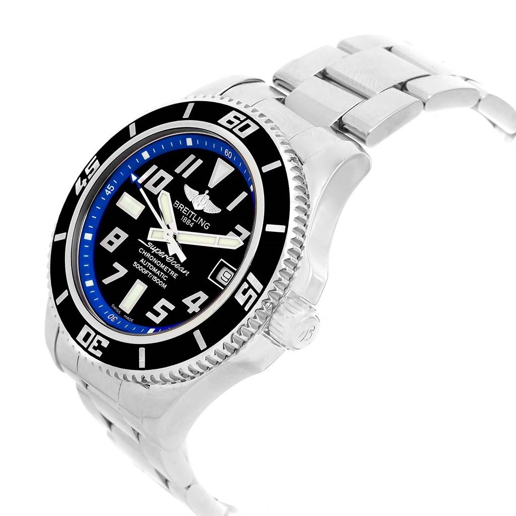 Breitling Superocean 42 Abyss Black Blue Dial Watch A17364 Box Papers SwissWatchExpo