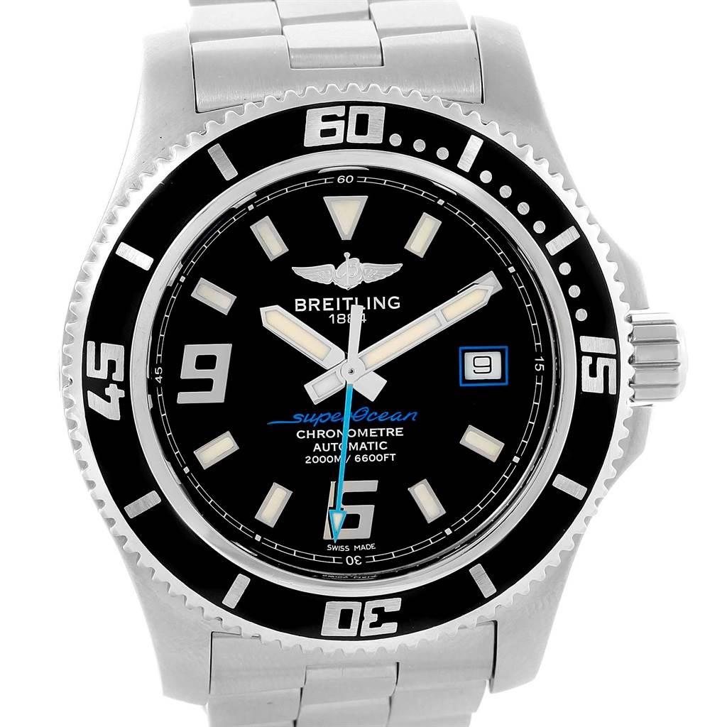 17082 Breitling Aeromarine Superocean 44 Blue Hand Mens Watch A17391 Box SwissWatchExpo