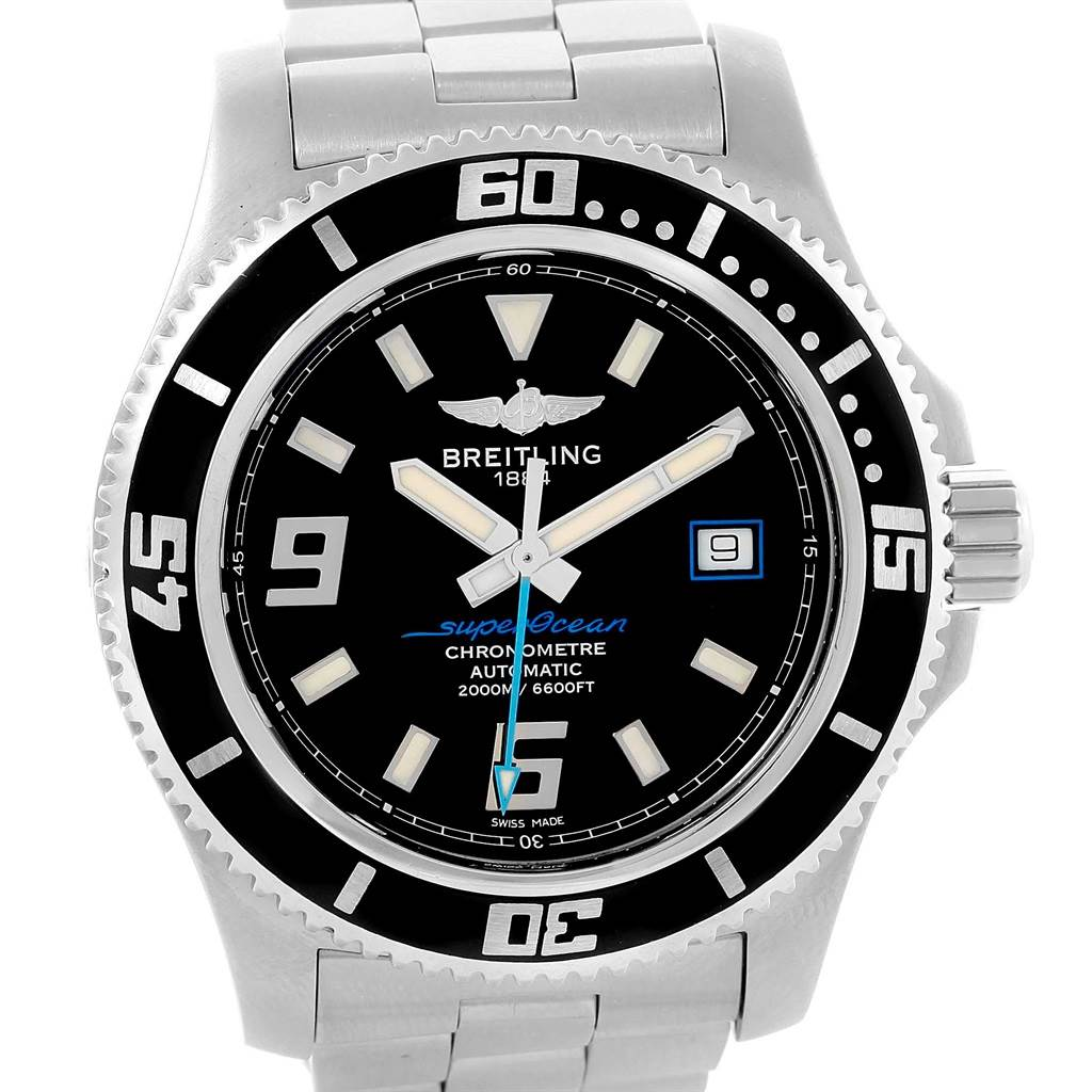 Breitling Aeromarine Superocean 44 Blue Hand Mens Watch A17391 Box SwissWatchExpo