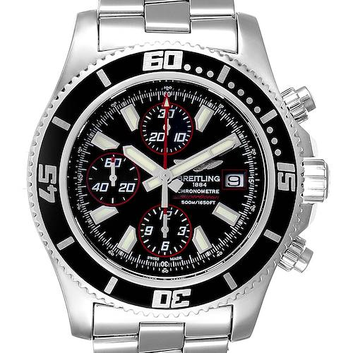 Photo of Breitling Aeromarine SuperOcean II Chronograph Watch A13341 Box Papers