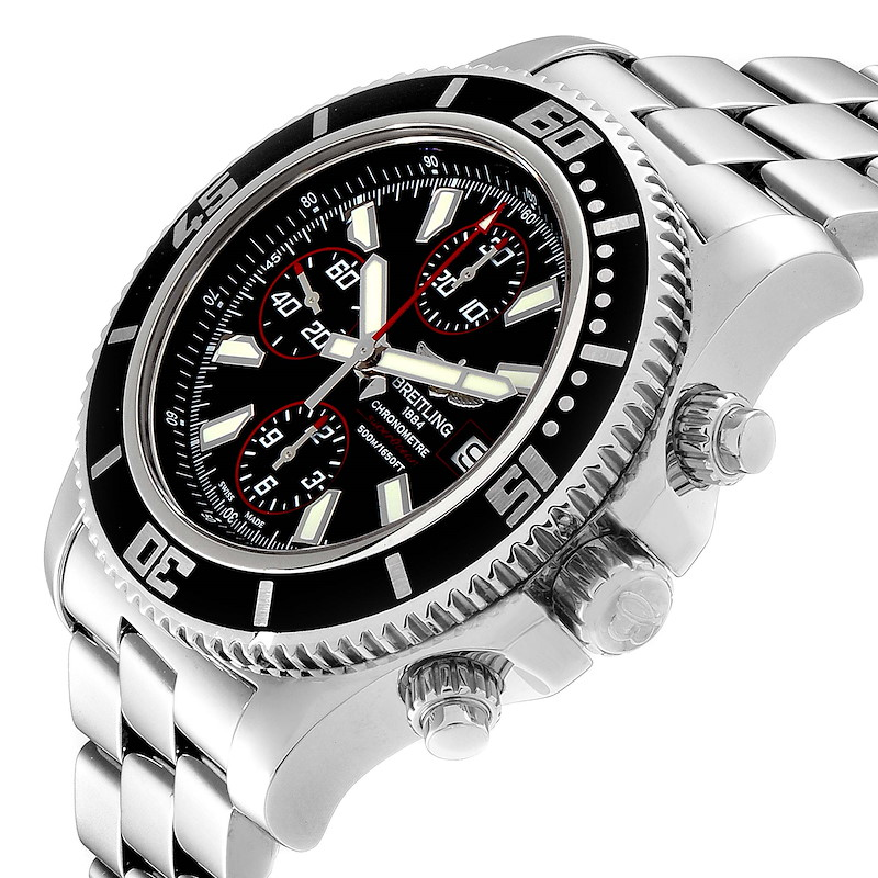 Breitling Aeromarine SuperOcean II Chronograph Watch A13341 Box Papers SwissWatchExpo