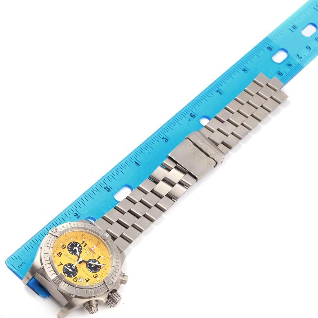 Breitling Aeromarine Chrono Avenger M1 Yellow Dial Titanium Watch E73360 SwissWatchExpo