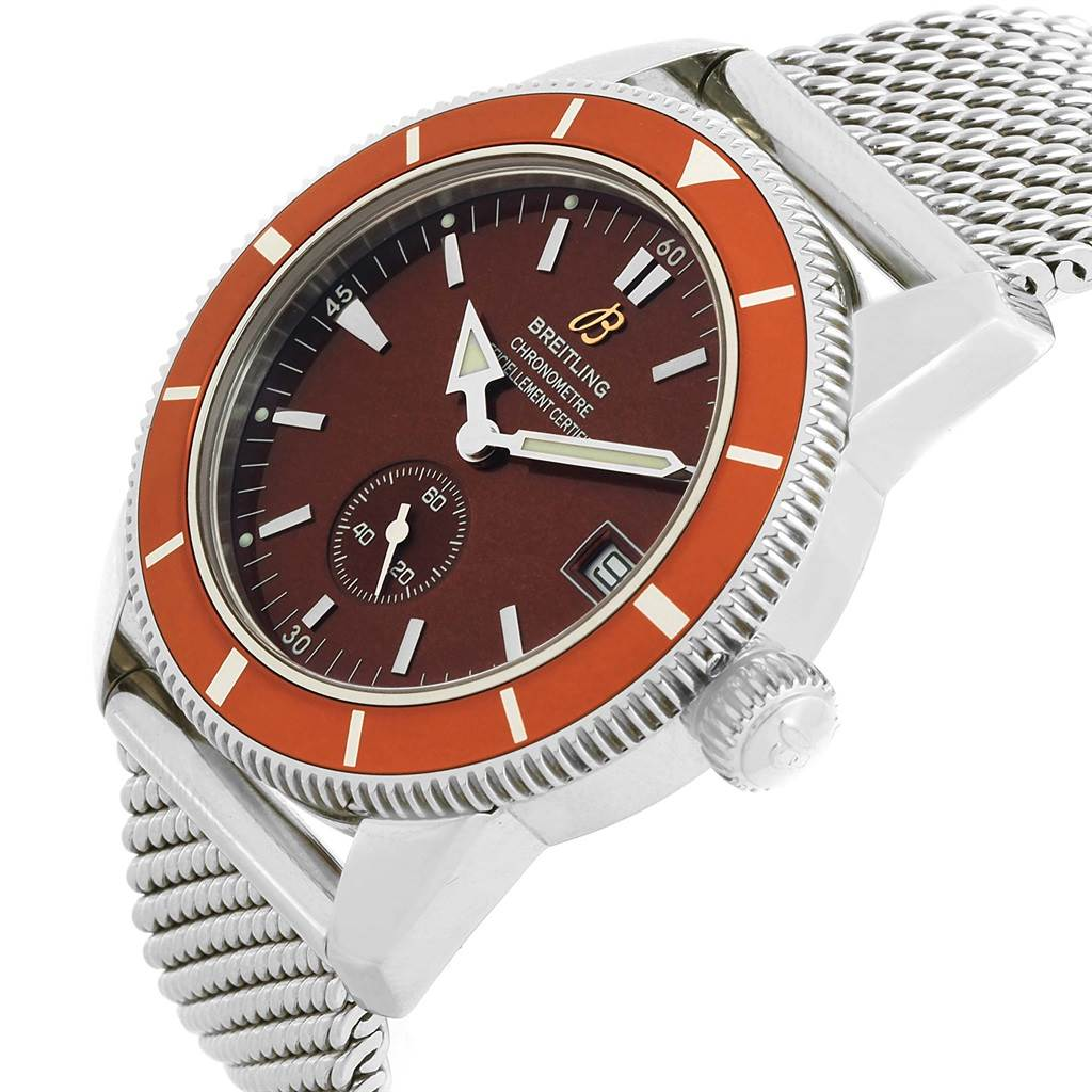 17092 Breitling Superocean Heritage 38 Bronze Dial Watch A37320 Box Papers SwissWatchExpo