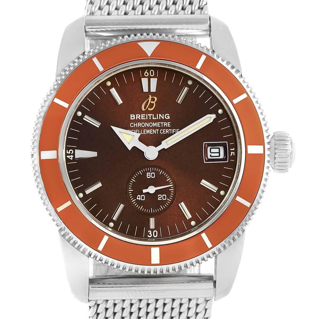 Breitling Superocean Heritage 38 Bronze Dial Watch A37320 Box Papers SwissWatchExpo