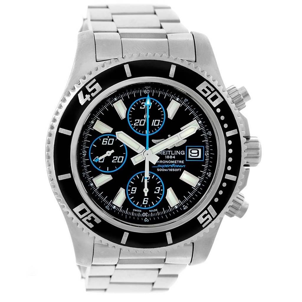 17099 Breitling Aeromarine SuperOcean Chronograph II Watch A13341 Box SwissWatchExpo