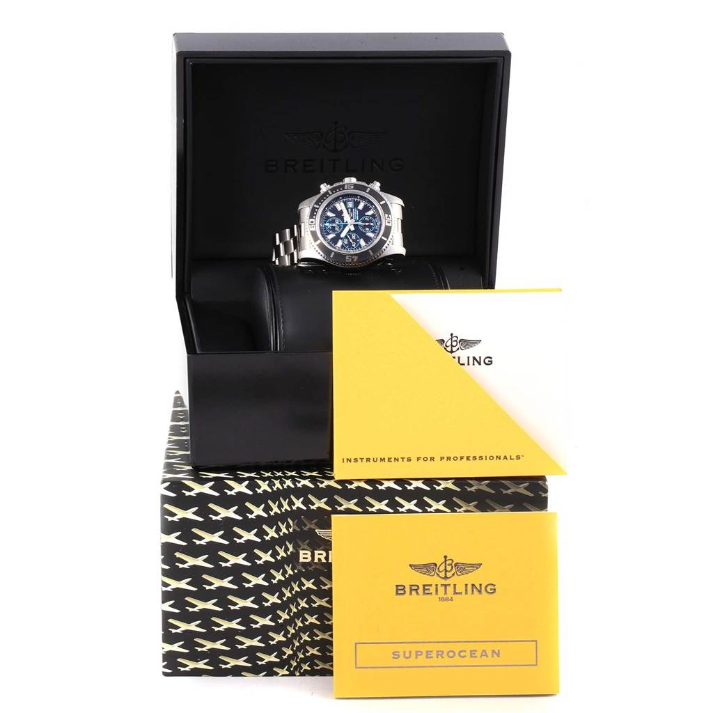 17099 Breitling Aeromarine SuperOcean Chronograph II Watch A13341 Box SwissWatchExpo