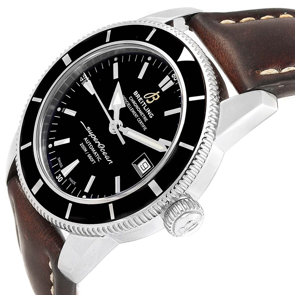 17186 Breitling Superocean Heritage 42 Black Dial Mens Watch A17321 SwissWatchExpo