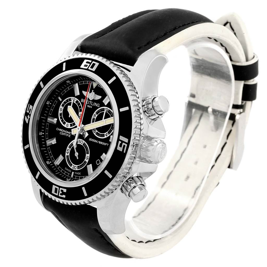 3546X Breitling Superocean Chronograph Rubber Strap Watch M2000 A73310 SwissWatchExpo