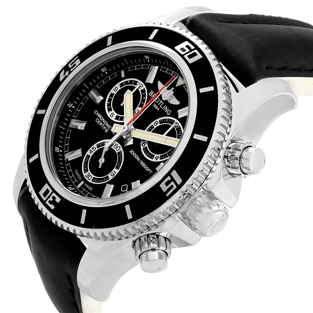 Breitling Superocean Chronograph Rubber Strap Watch M2000 A73310 SwissWatchExpo
