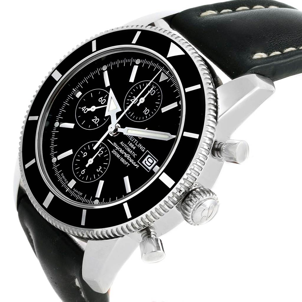 17252 Breitling SuperOcean Heritage Chrono 46 Black Dial Mens Watch A13320 SwissWatchExpo