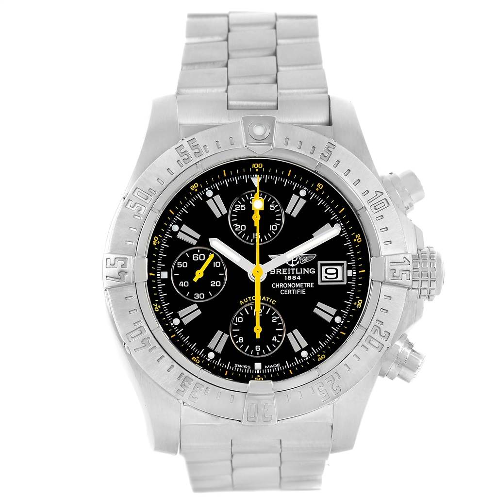 Breitling Avenger Skyland Code Yellow Limited Edition Watch A13380 Box Papers SwissWatchExpo